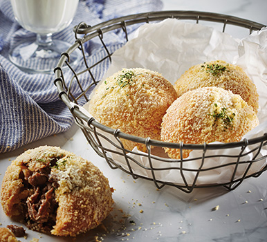 Fajita with grilled rib patties